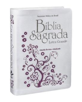 Bíblia Sagrada | RA | Letra Grande | Couro Bonded | Branca