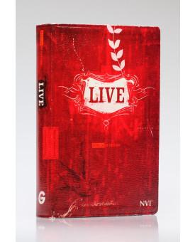 Bíblia de Estudo Live | NVI | Letra Normal | Capa Luxo | Vermelha