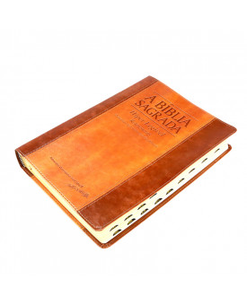 A Bíblia Sagrada | ACF | Hiper Legível | Luxo | Chocolate/Havana | índice