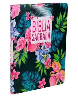 Bíblia Sagrada | NAA | Letra Grande | Capa Luxo | Flores