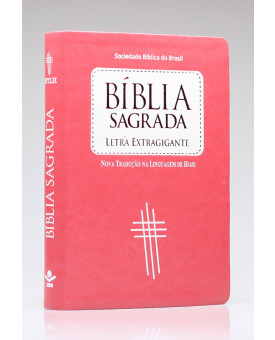 Bíblia Sagrada | NTLH | Letra Extra Gigante | Capa Sintética | Pêssego e Branco | Índice