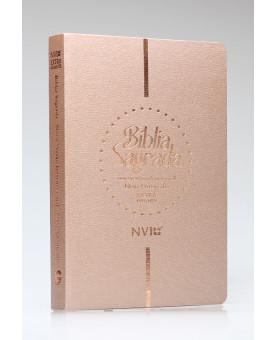 Bíblia Sagrada | NVI | Letra Extragigante | Luxo | Nova Ortografia | Champagne