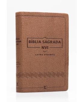 Bíblia Sagrada | NVI | Letra Gigante | Luxo | Marrom