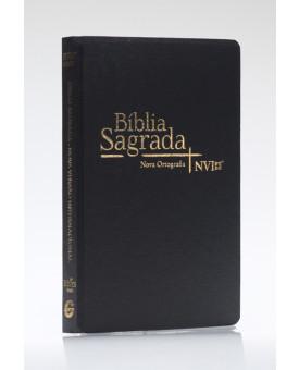 Bíblia Sagrada | NVI | Letra Normal | Semi-Luxo | Nova Ortografia | Preta