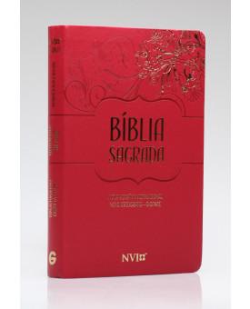 Bíblia Sagrada | NVI | Letra Gigante | Luxo | Nova Ortografia | Vermelha