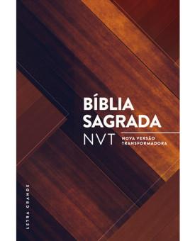Bíblia Sagrada | NVT | Letra Grande | Madeira triângulos | Capa Dura