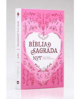 Bíblia Sagrada | NVT | Letra Normal | Capa Dura | Coração Rosa
