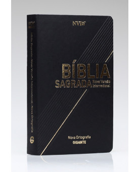 Bíblia Sagrada | NVI | Letra Gigante | Luxo | Nova Ortografia | Preta