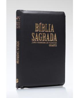Bíblia Sagrada | RC | Letra Gigante | Com Mapas | Luxo | Índice | Zíper | Preta