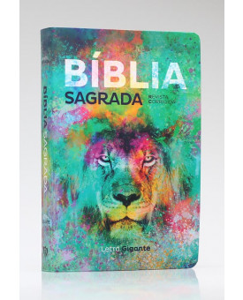 Bíblia Sagrada | RC | Letra Gigante | Soft Touch | Leão Color