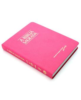 Bíblia Sagrada | ACF | Letra Média | Semi-Luxo | Rosa