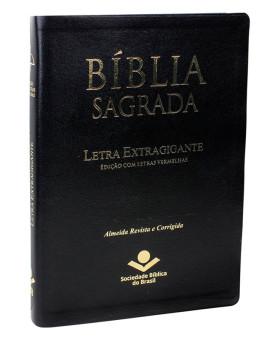 Bíblia Sagrada | RC | Letra Extragigante | Luxo | Preta | Índice