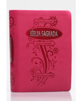 Bíblia Sagrada | RC | Letra Grande | Flexível PU | Pink | Índice