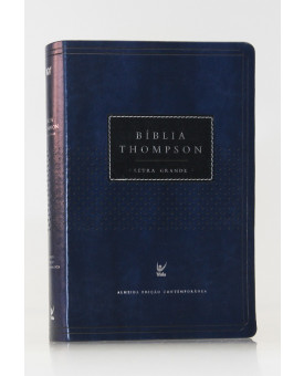 Bíblia de Estudo Thompson | AEC | Letra Grande | Luxo | Vinho e Preta