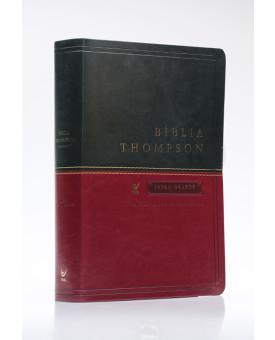 Bíblia Thompson | AEC | Letra Grande | Luxo | Verde e Vinho