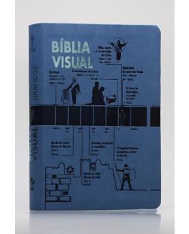 Bíblia Visual | NTLH | Letra Normal | Capa Sintética | Azul