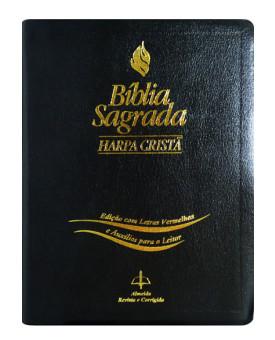 Bíblia ARC | Letra Gigante | Harpa Cristã | Letras Vermelhas | Auxílio para o leitor
