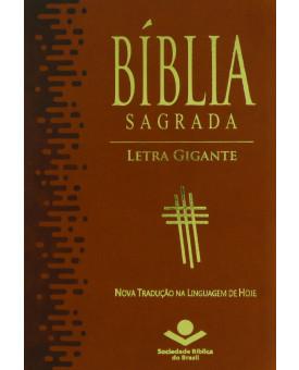 Bíblia Sagrada | NTLH | Letra Gigante | Média | Marrom | Luxo | Com Índice