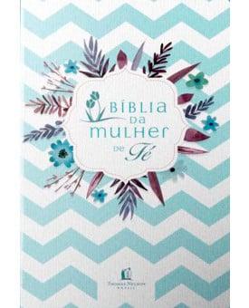 Bíblia De Estudo Da Mulher de Fé | NVI | Letra Média | Luxo | Florida | Verde