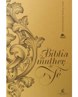 Bíblia de Estudo da Mulher de Fé | PU Dourada | NVI | Sheila Walsh