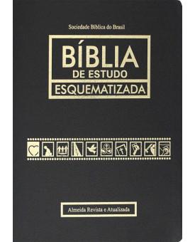 Bíblia De Estudo Esquematizada | RA | Preta | Luxo