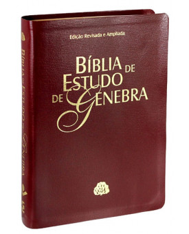Bíblia de Estudo Genebra | RA | Letra Normal | Couro Bonded | Vinho