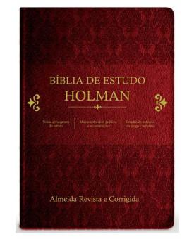 Bíblia de Estudo Holman | RC | Letra Média | Capa Sintética | Vinho
