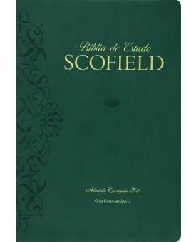 Bíblia de Estudo Scofield | ACF | Letra Normal | Luxo | Verde
