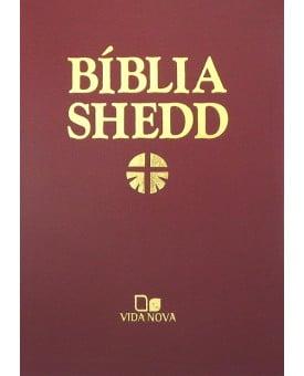 Bíblia de Estudo Shedd | Almeida Atualizada | Luxo | Vinho