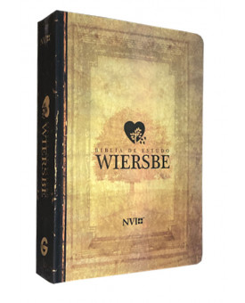 Bíblia de Estudo Wiersbe | NVI | Letra Grande | Semi-Luxo | Estampada