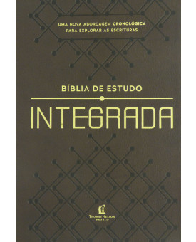 Bíblia de Estudo | NVI | Letra Média | Soft Touch | Integrada | Cronológica | Marrom