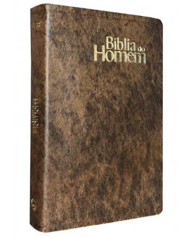 Bíblia do Homem | NVI | Letra Grande | Luxo | Marrom