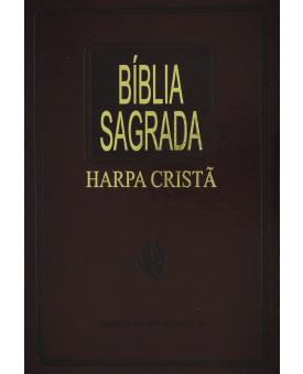 Bíblia Sagrada   RC   Harpa Cristã   Letra Normal   Capa Sintética   Marrom Nobre   Slim