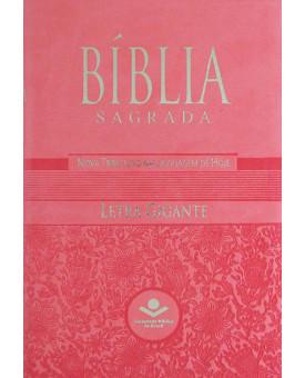 Bíblia Sagrada | NTLH | Letra Gigante | Média | Rosa | Luxo | Com Índice