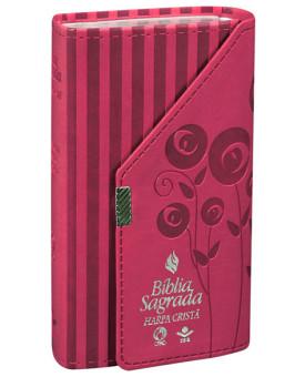 Bíblia Sagrada | RC | Pink | Carteira | Harpa Cristã
