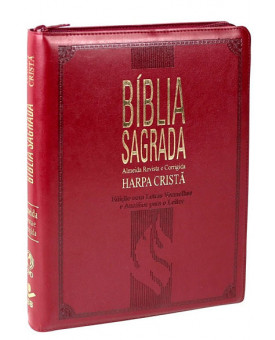 Bíblia Sagrada | Harpa Cristã | RC | Letra Gigante | Índice | Zíper | Vinho