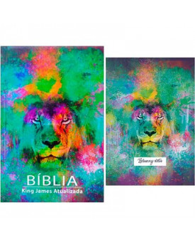 Bíblia Sagrada | King James Atualizada | Letra Grande | Leão Color + Blessing Notes