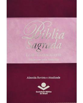 Bíblia Sagrada   RA   Letra Extragigante   Luxo   Rosa