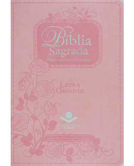 Bíblia Sagrada | RC | Letra Gigante | Emborrachada | Rosa | Luxo | Índice