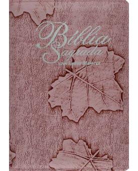 Bíblia Sagrada Almeida Corrigida | Letra Maior | Rosa | Ziper