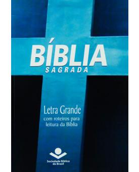 Bíblia Sagrada | RA | Letra Grande | Brochura | Cruz | Azul