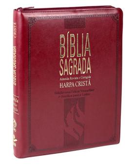 Bíblia Sagrada | RC | Harpa Cristã | Letra Gigante | Luxo | Zíper