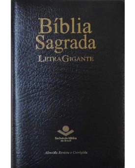 Bíblia Sagrada - RC - Letra Gigante - Média - Preta - Luxo - com Índice - Zíper