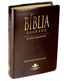 Bíblia Sagrada | Letra Gigante | NTLH | Luxo com índice | Marrom