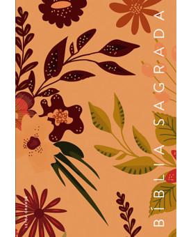 Bíblia Sagrada | NVT | Letra Grande | Capa Dura | Flores | Marrom
