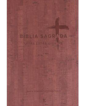 Bíblia Sagrada Vinho NVI | Letra  Extra Gigante | Editora Vida