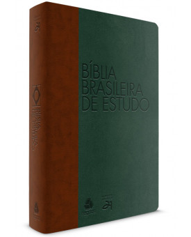 Bíblia Brasileira De Estudo | S21 | Letra Normal | Capa Sintética | Verde e Marrom