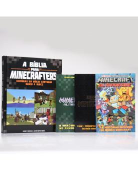 Kit Bíblia Para Minecrafters + 3 Almanaques Minecraft