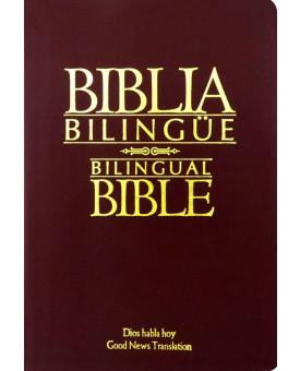 Bíblia Bilíngue | Média - Vinho | Luxo