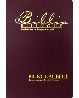 Bíblia Bilíngue | TLA/CEV | Média | Vinho | Luxo